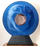 Pendule « Le Jour et la Nuit » bleue