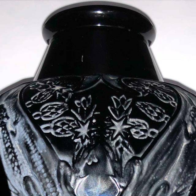 Vase «Lézards et Bluets»