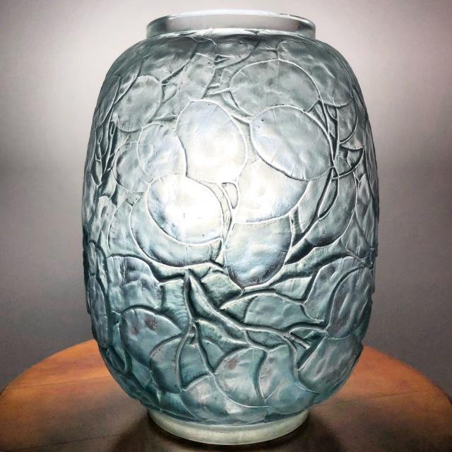 Vase «Monnaie du Pape» bleu