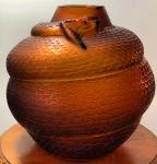 Vase « Serpent » ambre
