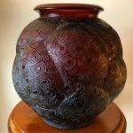 Vase « Tortue » ambre